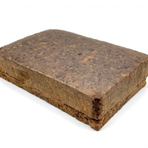 Diamond Hash - Concentrate - Brick displayed in front of a white background