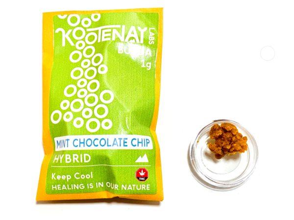 Kootenay Labs - Mint Chocolate Chip Budder / Wax packets displayed on Phatnug Canada Online Weed Dispensary