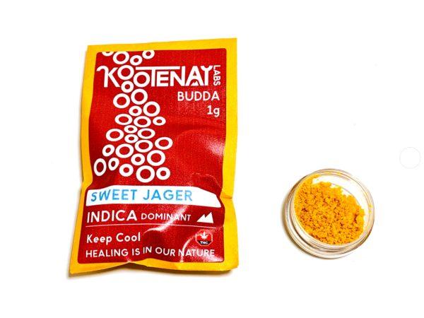 Kootenay Labs - Sweet Jager Budder / Wax packets displayed on Phatnug Canada Online Weed Dispensary