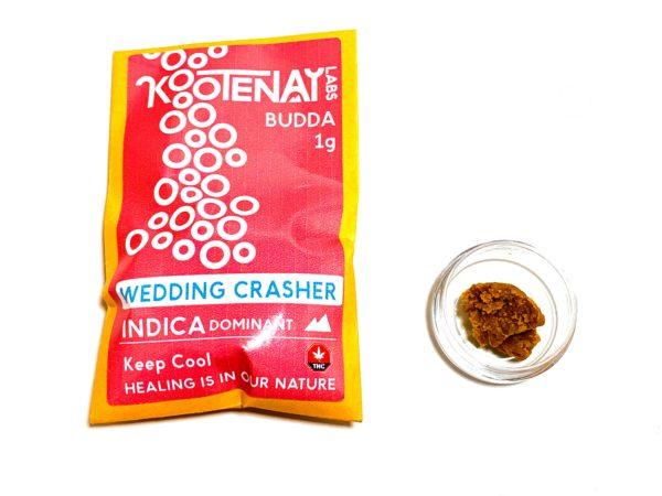 Kootenay Labs - Wedding Crasher Budder / Wax packets displayed on Phatnug Canada Online Weed Dispensary