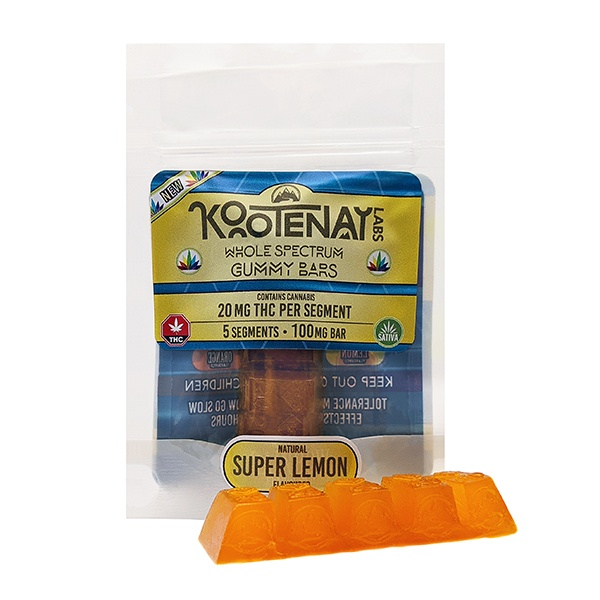 Kootenay Labs Gummy Bars - Super Lemon - Gummy Edibles - 20mg THC