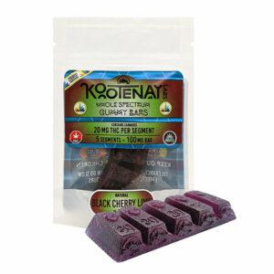 Kootenay Labs Gummy Bars - Black Cherry - Gummy Edibles - 20mg THC