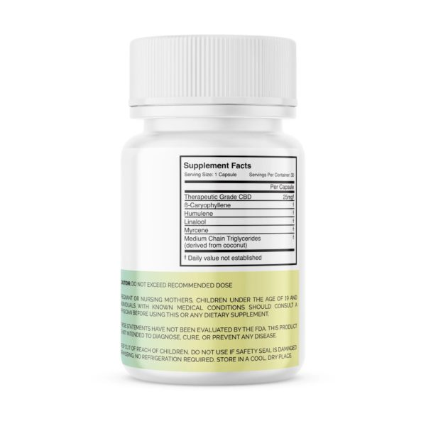 Me First Wellness - 25mg CBD Capsules for pain, arthritis, insomnia and other ailments