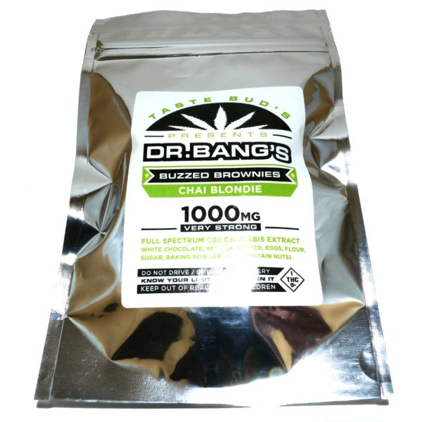 Taste Bud's - Dr. Bang's Buzzed Brownies - Chai - Edibles package displayed on Phatnug Canada Online Weed Dispensary