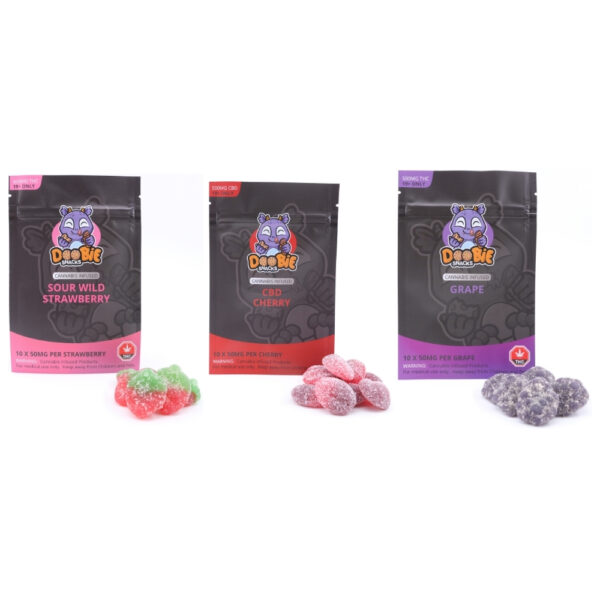Doobie Snacks - 500mg Gummies - Gummy Edibles - Front