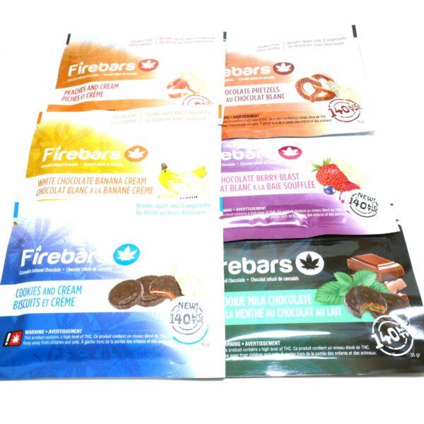 Fire bars Cannabis Chocolate - 140mg THC