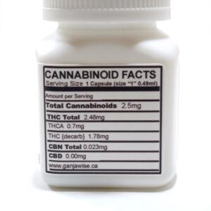 Ganja Wise Cannabis Capsules - Edibles - Varied THC %