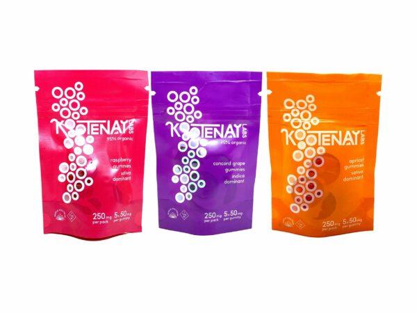 Kootenay Labs 5 Pack Gummies - Edibles - 50mg THC