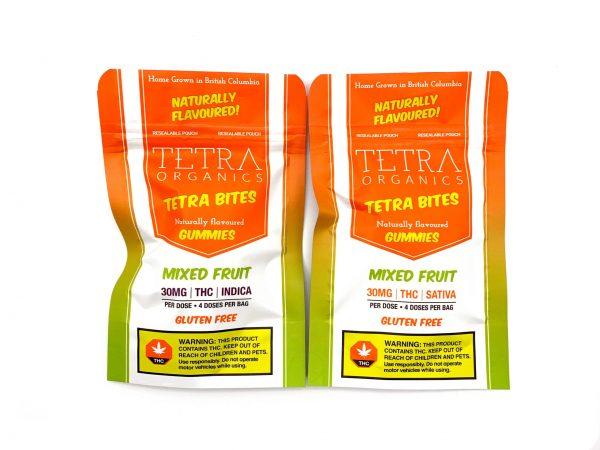 Tetra Organics - Tetra Bites Gummies - Mixed Fruit - 30mg THC